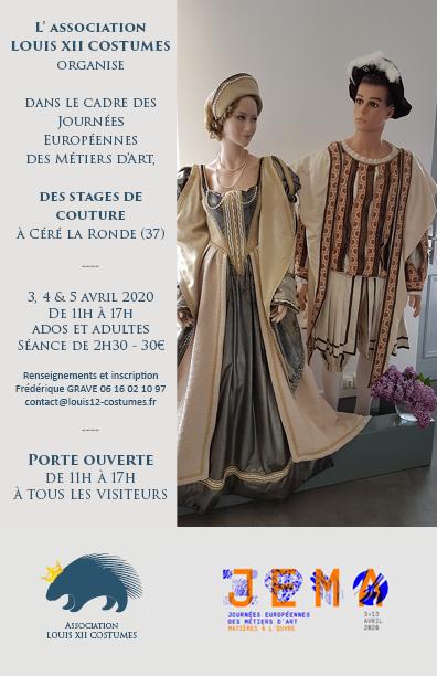 JEMA 2020 Louis 12 Costumes Céré la Ronde Indre et Loire
